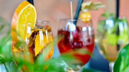glasses of fresh fruit cocktails perfect for summer