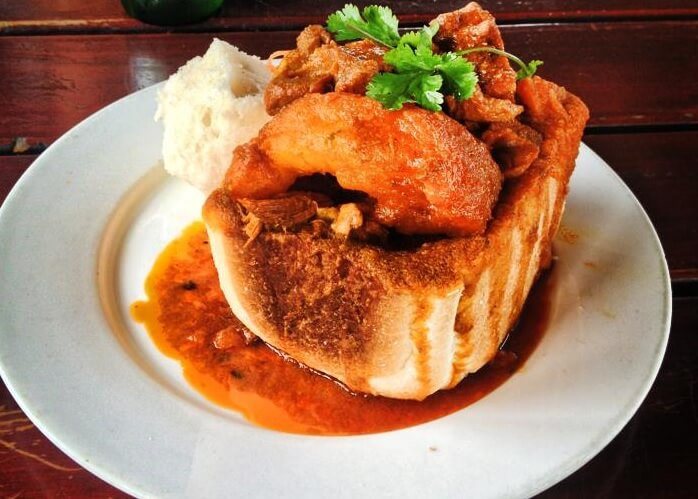 South African Bunny Chow A Portable, Spicy Curry, All Snug in Bread
